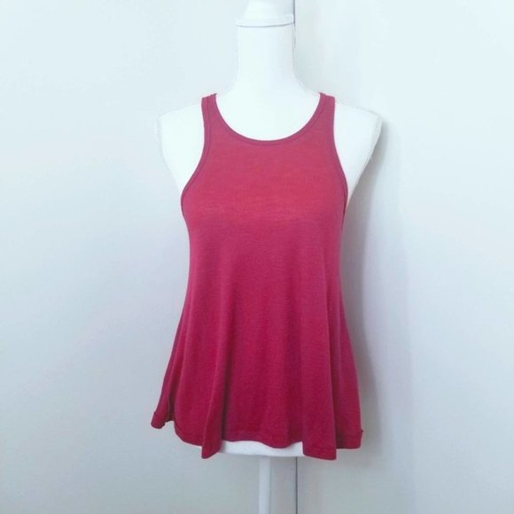 Free People Ribbed Tank Top. Red. SP#01